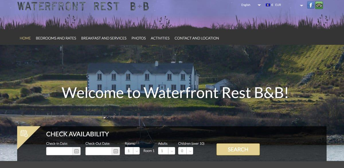 WaterfrontRest.com page d'accueil