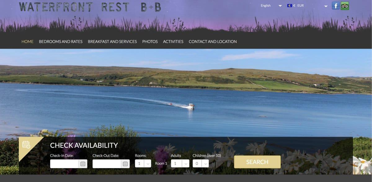 Waterfront Rest B&B home page