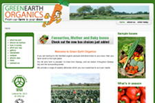 GreenEarthOrganics.ie page d'accueil